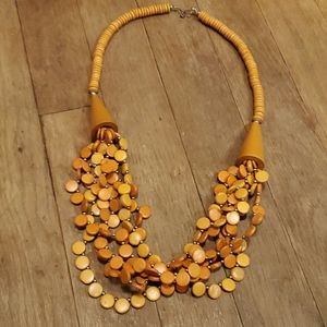 Beautiful orange fashion necklace